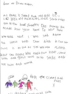 150907 - Letter from boy re- Migrants