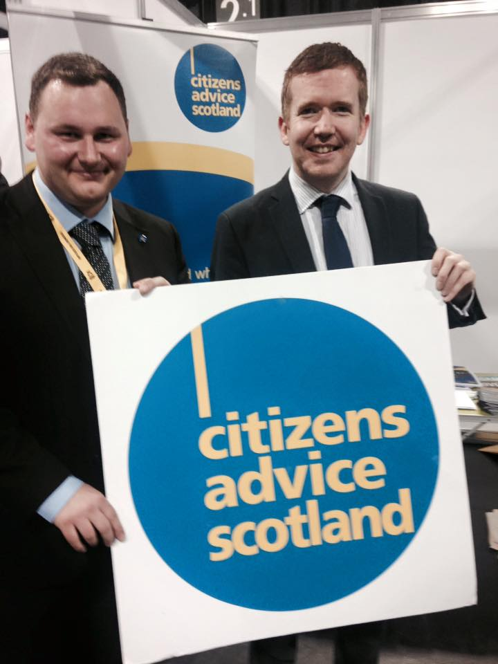 160312 SNP Conference Stuart McDonald with Citizens Advice Scotland.jpg